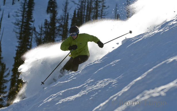 A skier in powder at Discovery Basin, Montana. - ©Jeremy Lurgio/Discovery Basin