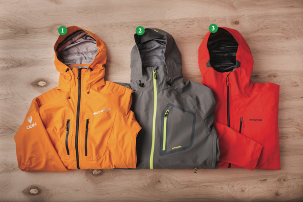 Men's Shells: 1) Helly Hansen Odin Mountain Jacket; 2) Dakine Clutch Jacket; 3) Patagonia PowSlayer Jacket - ©Julia Vandenoever