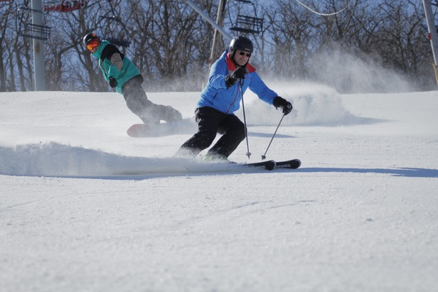 Skiers and riders enjoy a fresh surface at Mountain Creek. Photo Courtesy of Mountain Creek.