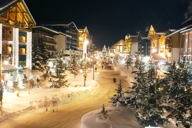 Pretty village of Val d'Isere, France