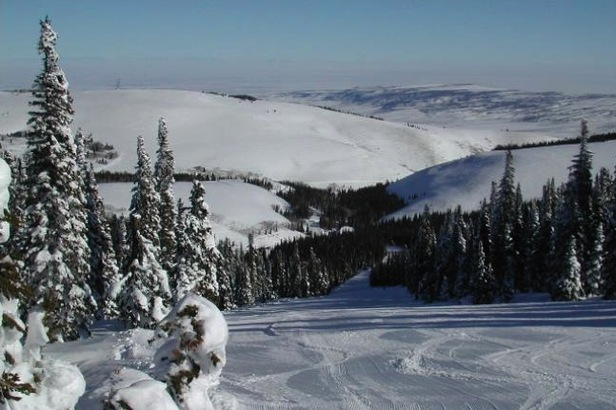 Groomer run at Pomerelle. Photo courtesy of Pomerelle Mountain Resort.