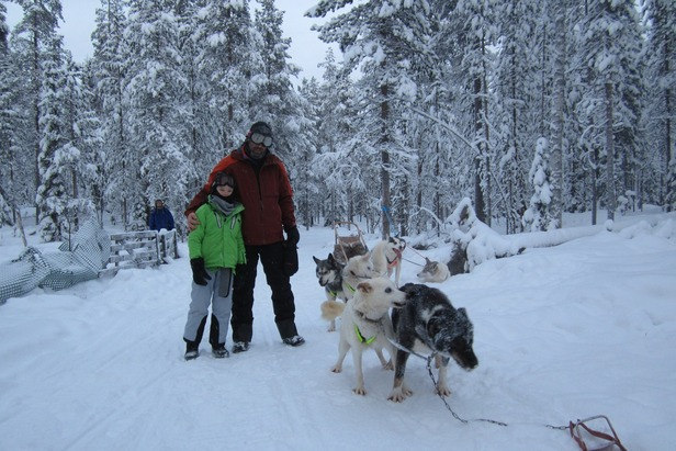 Dog sledding in Lapland - ©Patrick Thorne