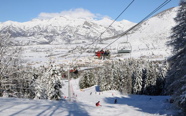 Sur les pistes de ski d'Ancelle