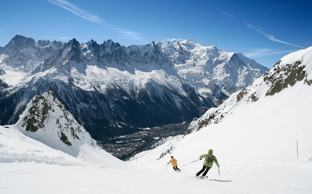 Limitless choice of runs in Chamonix, France