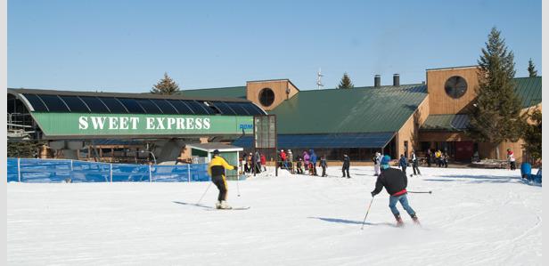 Express lift at Michigan's Bittersweet. - ©Bittersweet Ski Area