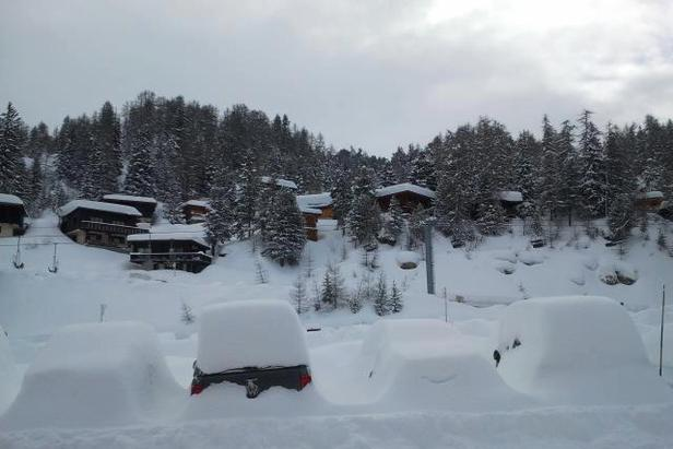 Snow-covered La Plagne. March 19th, 2013 - ©La Plagne