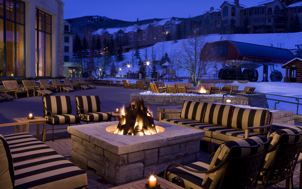 The outdoor fireplace at the Park Hyatt Beaver Creek Resort and Spa. - ©Park Hyatt Beaver Creek Resort and Spa