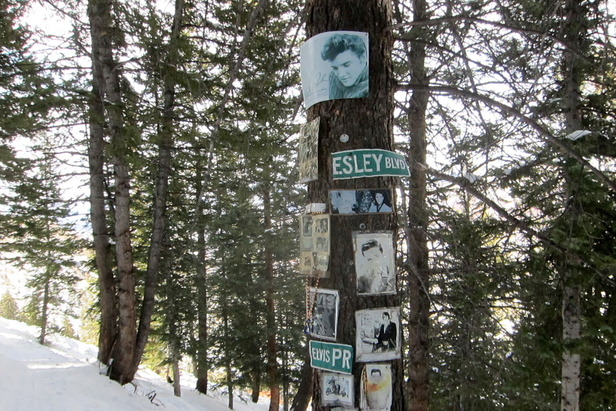 The Elvis Presley Shrine on Aspen Mountain. - ©Amanda Rae