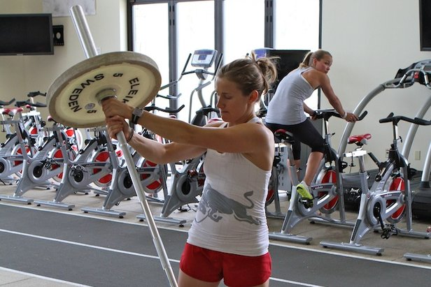 Heather McPhie demonstrates how she stays healthy as the ski season comes an end with Barbell Rotations.