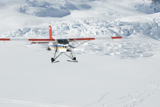 Per Flugzeug zum Take-Off: Tasman Glacier, Southern Alps, Neuseeland - ©Ski the Tasman