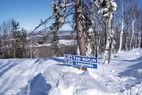 Granite Peak ski run sign - View of a sign