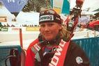 Interview mit Hilde Gerg nach der Abfahrt in Lenzerheide 2002 - ©Gerwig Löffelholz