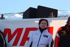 Claudia Riegler (NZE) führt zur Slalom-Halbzeit - ©Compaq