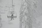 First Snow of Late November Storm Hits Sierra Nevada; Moving East