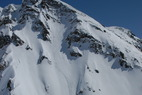 A steep face at Silverton Mountain. - A steep face at