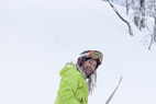 Kaj Zackrisson skis powder in Hemsedal, Norway