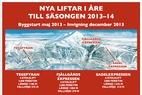 Tre nya stolliftar i Åre till säsongen 13/14