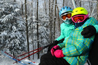 A mother-daughter duo at Granite Peak. - A mother-daughter duo at