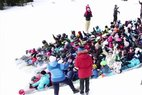 Snow tarping world record