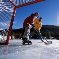 Keystone Colorado hockey at Lakeside Village