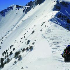 Vryssopoules, Olympos: Traversieren nach einem harschen Winter - ©Babis Giritziotis GOexperience