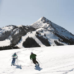 Cruising the groomers at Crested Butte Mountain Resort.