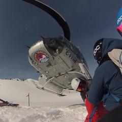 Heli skiers - ©Brigid Mander