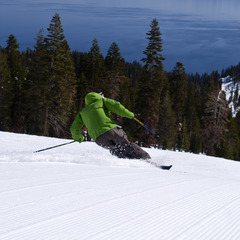 Spring skiing at Homewood Mountain Resort