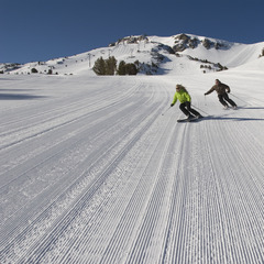 Mammoth groomed snow