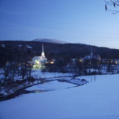 Stowe Mountain Resort at night
