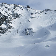 piste noire du Mont Fort à Verbier