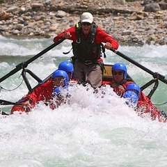 Some of the most-challenging whitewater in North America can be found on the Kicking Horse River in British Columbia. - ©Alpine Rafting