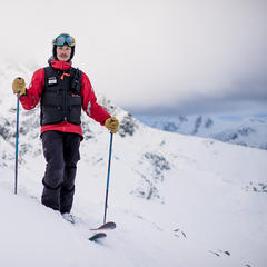 Ryan Bougie—Ski Patroller for Whistler - ©Jordan Manley