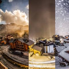Val Thorens (FR) - Dall'Autunno all'Inverno in 3 minuti - Timelapse