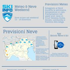 Infografica - Previsioni Meteo & Neve weekend 13-14 Dicembre 2014 - ©Skiinfo.it