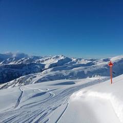 So stellt man sich Skifahren vor: Damüls Faschina am 18.1.2015