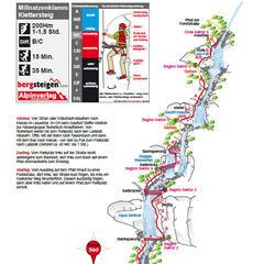 Klettersteig Millnatzklamm Topografie - ©Tourismusverband Lesachtal