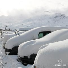 Verschneites Les Menuires (FRA) am 4. Januar 2016 - ©Facebook les Menuires