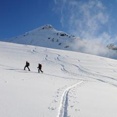 Entspannter Anstieg in Richtung Brechhorn-Gipfel - ©Nobert Eisele-Hein