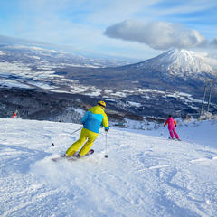 Cruisers at Niseko Village Resort. - ©Linda Guerrette