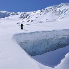 Silvretta-Durchquerung, Unterwegs am Ochsentaler Gletscher  - ©Stefan Herbke