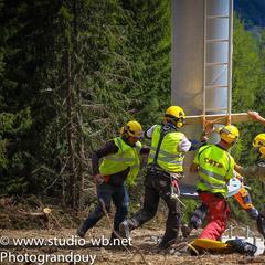 Héliportage télésiège grand puy - ©Station de ski du Grand Puy
