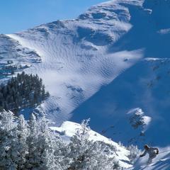 Taos NM Kachina Peak skier by Ken Gallard - ©Ken Garland