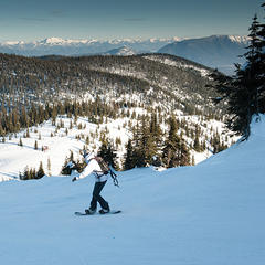 Montana offers numerous spots for taking in the mountains while carving lines - ©Montana Office of Tourism and Business Development