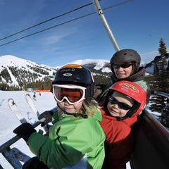 Marmot Basin AB family on chair