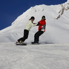 Mt Hood Meadows OR boarders (Randy Boverman)