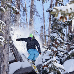 A skier shows his skill at Brian Head Resort.