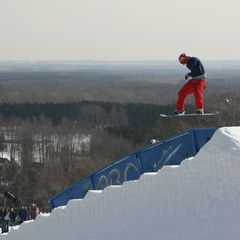 Snowboard jump, Crystal Mountain Michigan