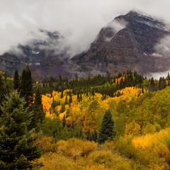 The first snowfall of the season fell atop the Maroon Bells in Aspen on Sept. 12, 2012. With ski season only 10 weeks away, more is in the forecast. Photo by Jeremy Swanson.
