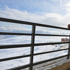 Travis takes a moment to look out over La Parva Ski Resort